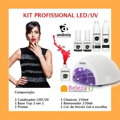 Kit Profissional de Verniz Gel LED/UV Andreia