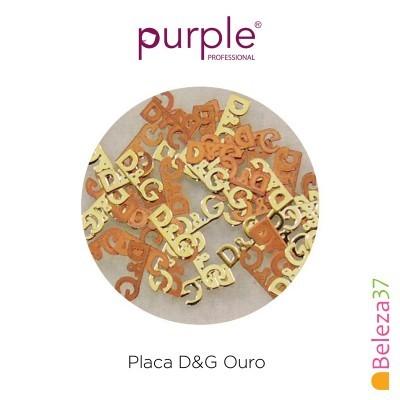 Placa D&G Ouro