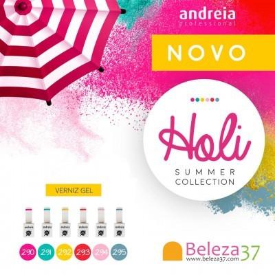 """Verniz Gel Andreia – 6 Cores da Coleção """"Holi"""""""