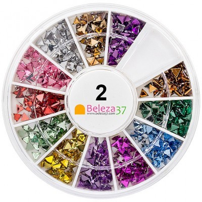 Roda 2 – 500 Brilhantes Triangulares em 12 cores
