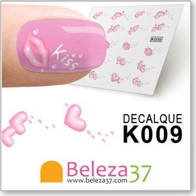 Decalques Lábios e Corações (K009)