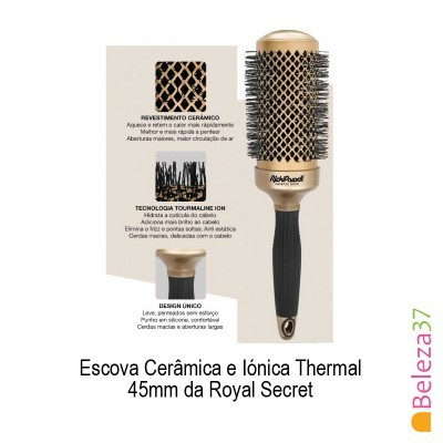 Escova Cerâmica e Iónica Thermal 45mm da Royal Secret