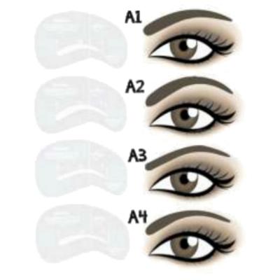 Moldes para Desenho de Sobrancelhas: A1–A4