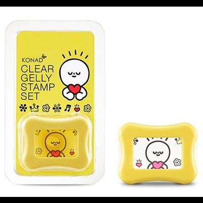 Carimbo Transparente e Raspador KONAD Clear Gelly Stamp Set - Amarelo