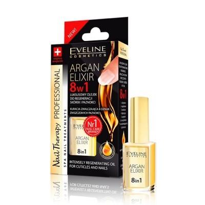Endurecedor de Unhas Eveline 8 em 1 Argan Elixir