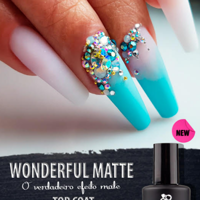 Top Wonderful Matte Purple - Finalizante mate sem goma para Verniz Gel, Gel e Acrílico