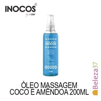 Óleo de Massagem Inocos - Aroma a Coco e Amêndoa 200ml