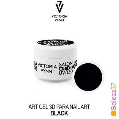 Art Gel 3D para Nail Art Victoria Vynn - 02 - Black