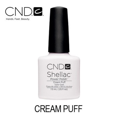 CND Shellac – Cream Puff (Branco Opaco)