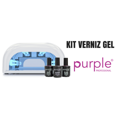 Kit Verniz Gel Purple | 3 Cores