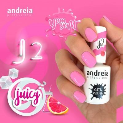 Verniz Gel Andreia J2 - Rosa Intenso Néon Pastel
