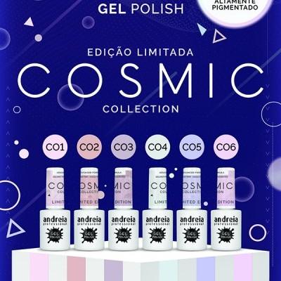 """Verniz Gel Andreia – 6 Cores da Coleção """"Cosmic"""""""