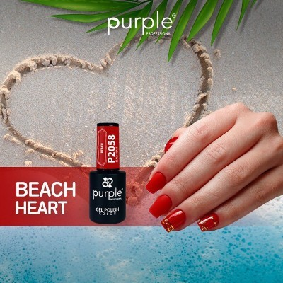Verniz Gel PURPLE P2058 – Beach Heart
