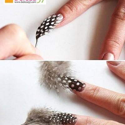 Penas de Ave para Nail Art