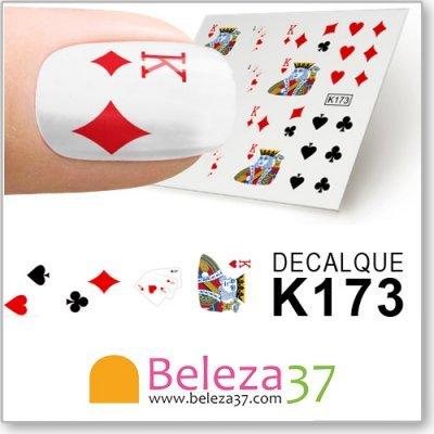 Decalques Jogo de Cartas (K173)