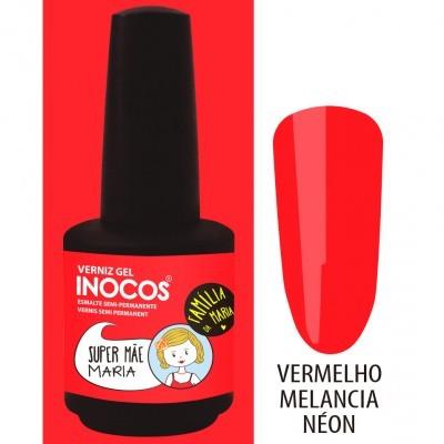 Verniz Gel Inocos – 194 - Super Mãe Maria (Vermelho Melancia Néon)