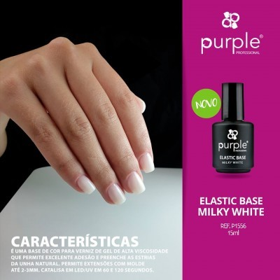 Elastic Base Purple Milky White (Branco Leitoso)