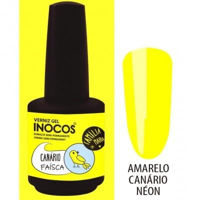 Verniz Gel Inocos – 192 - Canário Faísca (Amarelo Canário Néon)