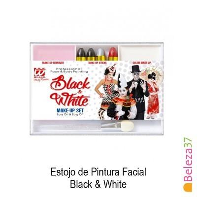 Estojo de Pintura Facial - 01 - Black & White (Preto e Branco)