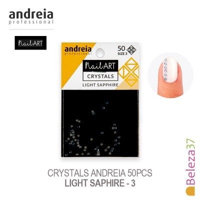 Crystals Andreia 50pcs - Light Saphire 3
