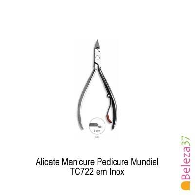 Alicate Manicure Pedicure Mundial TC722 em Inox