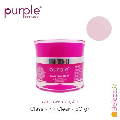 Gel Construtor Purple Glass Pink Clear – Rosa Transparente 50g