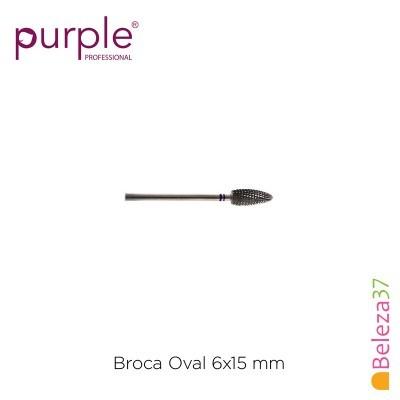 Broca de Carbono Oval PURPLE 6x15mm