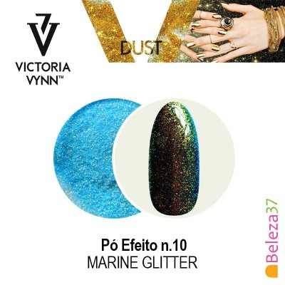 Pó Efeito Victoria Vynn n.10 Marine Glitter (Azul Marine Glitter)