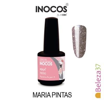 Verniz Gel Inocos 164 – Maria Pintas (Glitter Rosa + Prata)