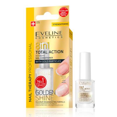 Tratamento de Unhas Eveline 8 em 1 Golden Shine