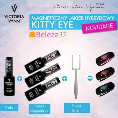 Conjunto Magnético Kitty Eye da Victoria Vynn: Cores 97 + 98 + 99 + 108 + OFERTA da Placa Íman