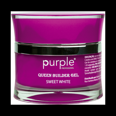 Gel Construtor Purple Queen Gel Sweet White 50g