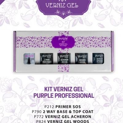 Kit Verniz Gel Purple