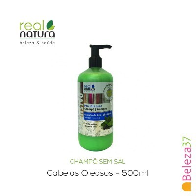 Champô Sem Sal Real Natura – Cabelos Oleosos 500ml