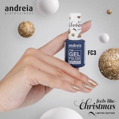 The Gel Polish Andreia FC3 (Glitter Dourado)
