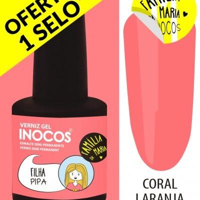 Verniz Gel Inocos – 196 - Filha Pipa (Coral Laranja Néon)
