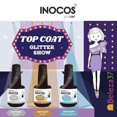Top Coat Glitter Show Inocos Sem Goma