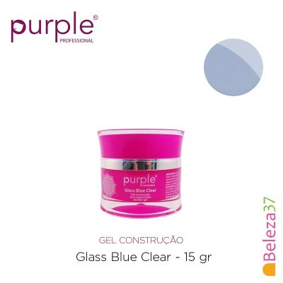 Gel Construtor Purple Glass Blue Clear – Azul Transparente 15g