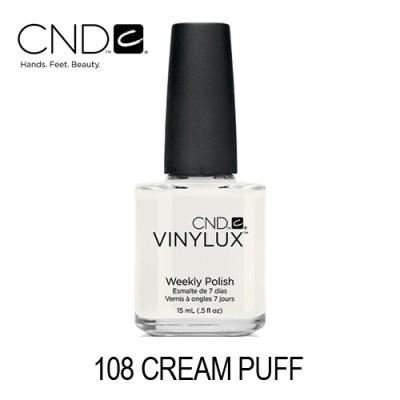 CND Vinylux – #108 Cream Puff (Branco Opaco)