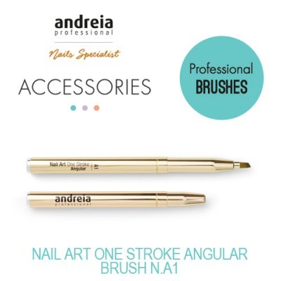 Pincel Nail Art One Stroke Angular n.º A1