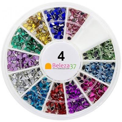Roda 4 – 500 Brilhantes em Gota em 12 cores
