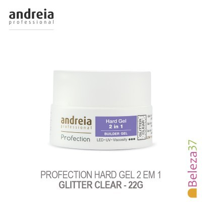 Hard Gel 2 em 1 Andreia Profection - Glitter Clear 22g
