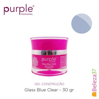 Gel Construtor Purple Glass Blue Clear – Azul Transparente 30g