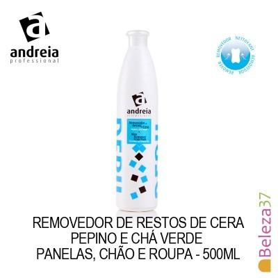 Removedor de Restos de Cera Andreia com Pepino e Chá Verde 500ml
