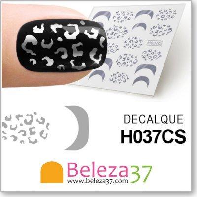 Decalques Malha de Leopardo em Prata (H037CS)