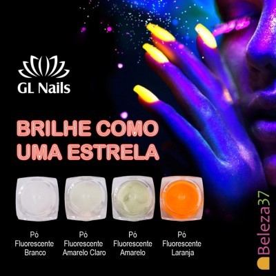 Pó Fluorescente GL Nails