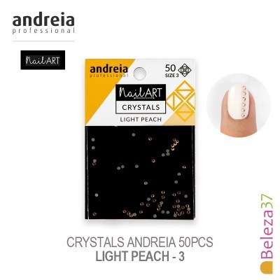 Crystals Andreia 50pcs - Light Peach 3