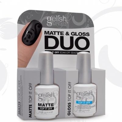 Duo Top It Off MATTE e GLOSS - Gelish Harmony
