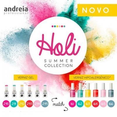 """Coleção Completa """"Holi"""" da Andreia – 6 Cores de Verniz Gel + 6 Cores de Verniz Normal"""