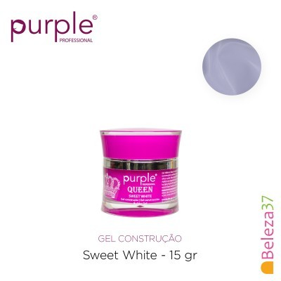 Gel Construtor Purple Queen Sweet White – Branco Leitoso 15g